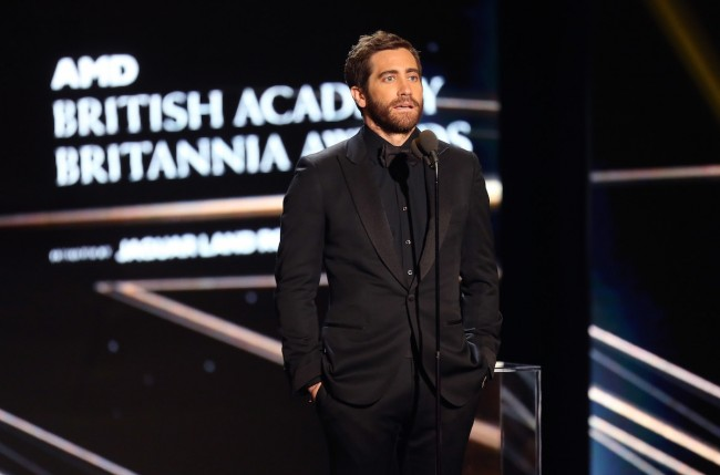 Jake Gyllenhaal speaks onstage during the 2016 AMD British Academy Britannia Awards at The Beverly Hilton Hotel on October 28, 2016 in Beverly Hills, California